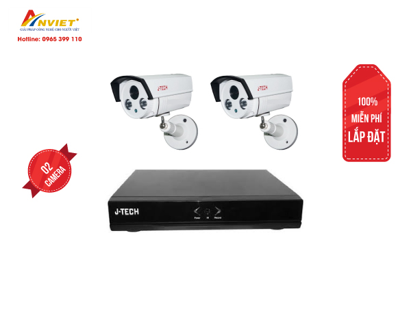 Trọn Bộ 2 Camera IP J-TECH 2.0M