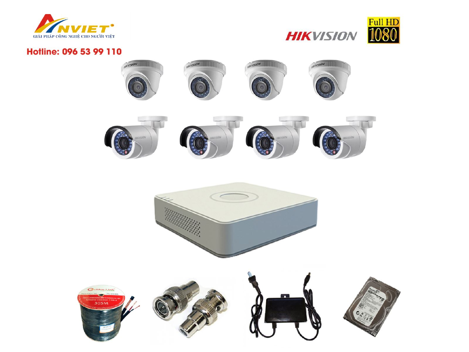 Bộ 16 Camera Hikvision 2.0MP